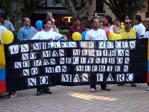 Un millón de voces contra las FARC - Rosario, Argentina