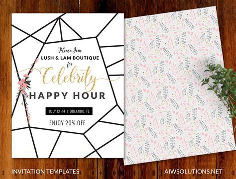 Invitations, event template,save the date template, Flyer