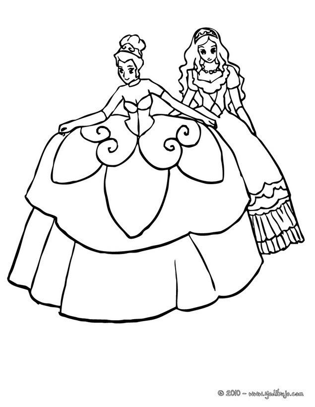 Dibujos Para Colorear Hermosos Vestidos De Princesas Eshellokidscom