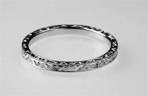 Hand Engraved Wedding Band 2mm Platinum   eBay