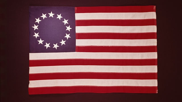 """Image result for Continental Congress in Philadelphia adopted the """"Stars and Stripes"""""""