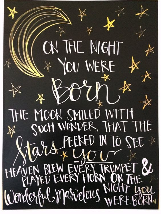 On The Night You Were Born Quote Quotes Myniceprofilecom