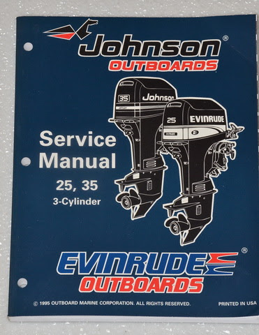 1996 JOHNSON 25 35 hp 3 CYLINDER 2 STROKE OUTBOARD 25hp ...