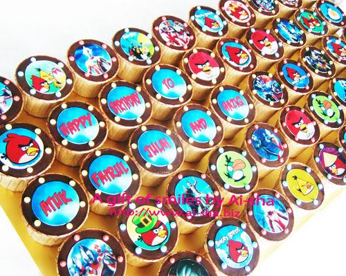 Birthday Cupcakes Edible Image Angry Birds & Ultraman