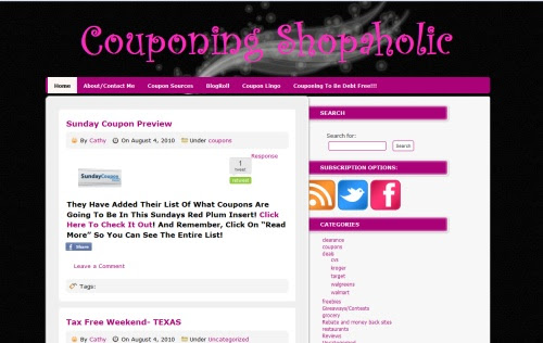 Couponing Shopaholic blog
