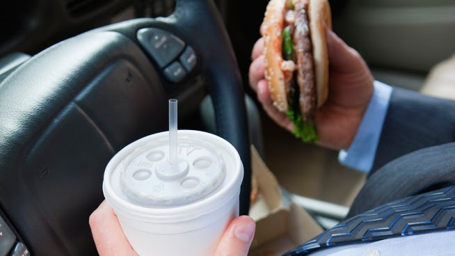 No Snacking Behind the Wheel?