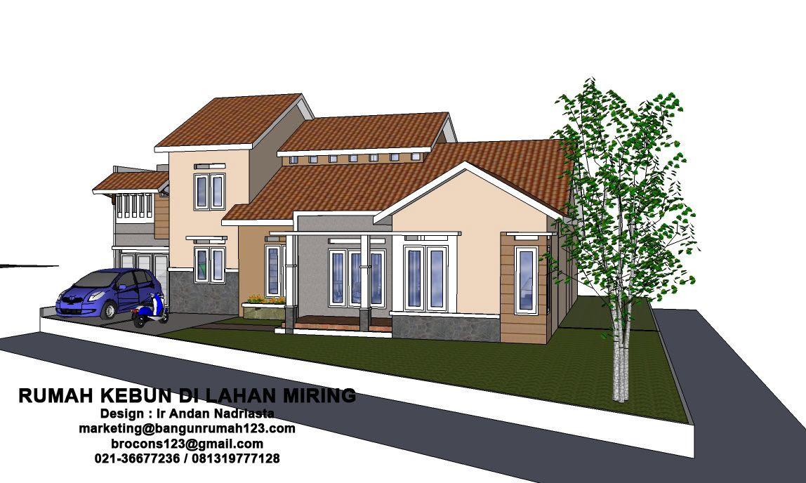 Konsultasi Arsitektur Rumah Kebun Di Lahan Miring