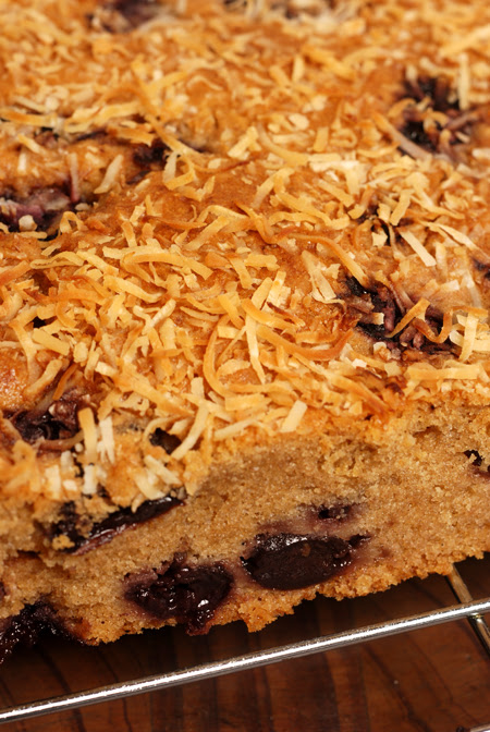 cherry coconut slice© by Haalo