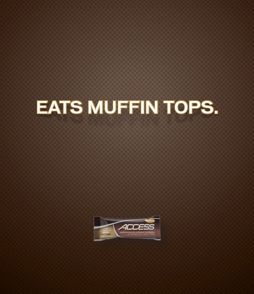 Funny Ad - Eats Muffin Tops