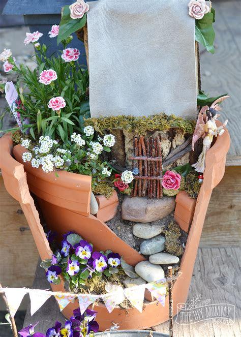 easy inexpensive fairy garden  diy mommy