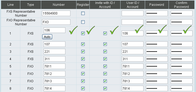 Настройки SIP аккаунтов на примере шлюза DVG-7044