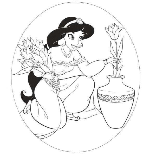 Disegni Da Colorare Disney Princess Jasmine Coloradisegni