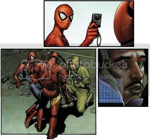 Homem de Ferro e Homem Aranha
