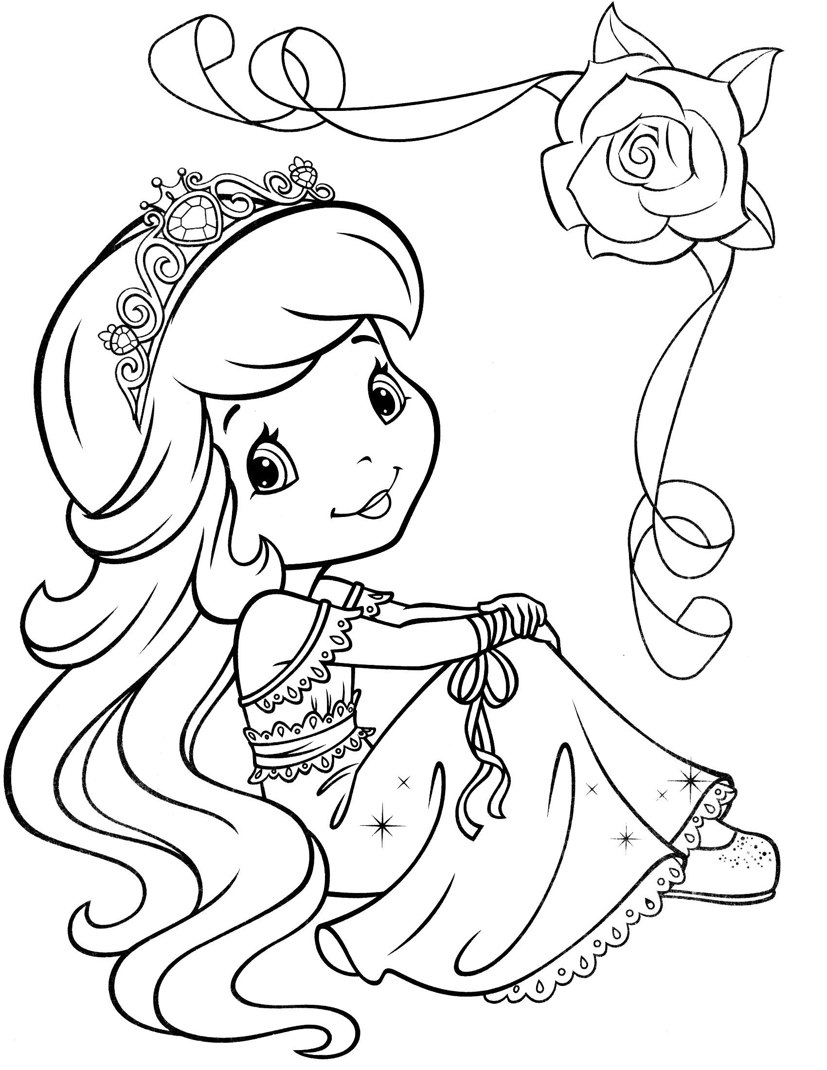 Strawberry Shortcake Princess Coloring Pages At Getdrawingscom
