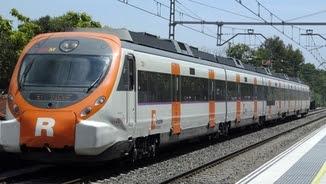 Un tren de la xarxa de Rodalies Renfe