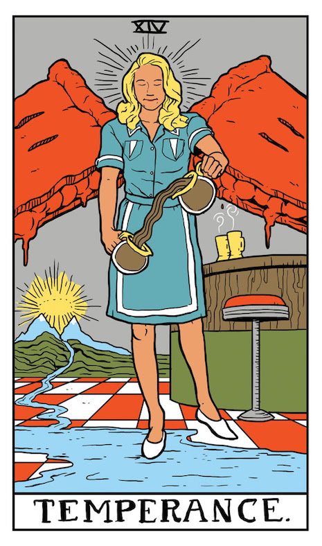 Temperance Twin Peaks Tarot Card