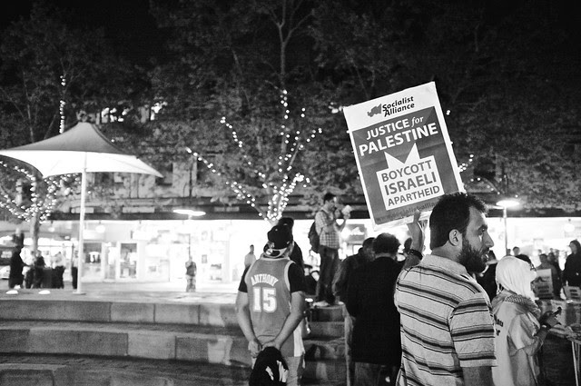 Anti-Israel Rally at Max Brenner 19