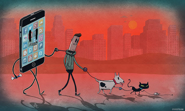Satirical Illustrations Addiction to Technology19