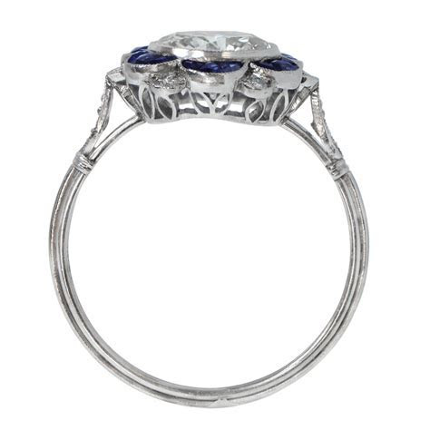1.60ct Diamond and Sapphire Engagement Ring