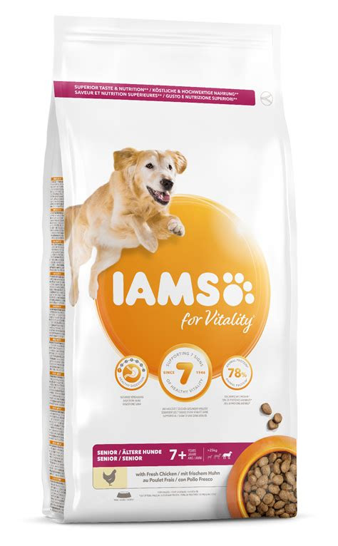 iams  vitality senior large breed dog food  chicken