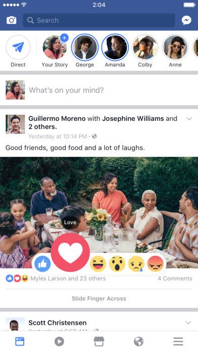 Facebook: l'app si aggiorna alla vers 169.0