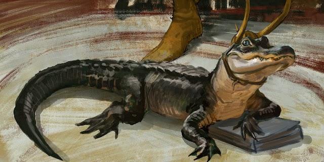 Alligator Loki Concept Art Had Blue Eyes To Match Tom Hiddleston's