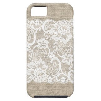 Vintage Burlap & Lace iPhone Case iPhone 5 Case