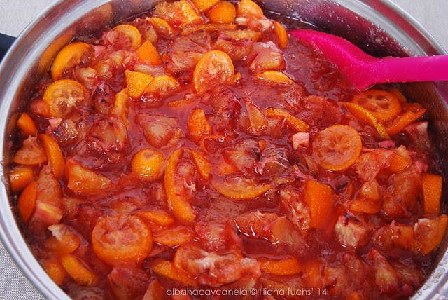 Blood orange kumquat jam
