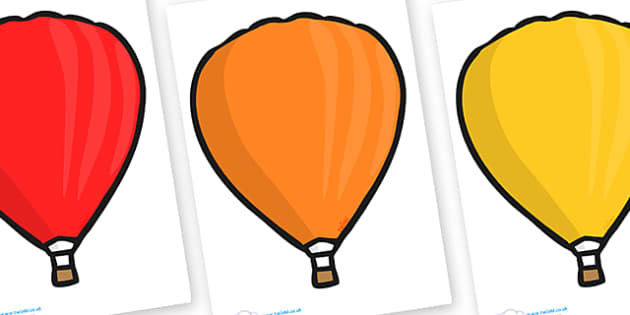 Editable Hot Air Balloons (Plain) - Hot Air balloon, balloons