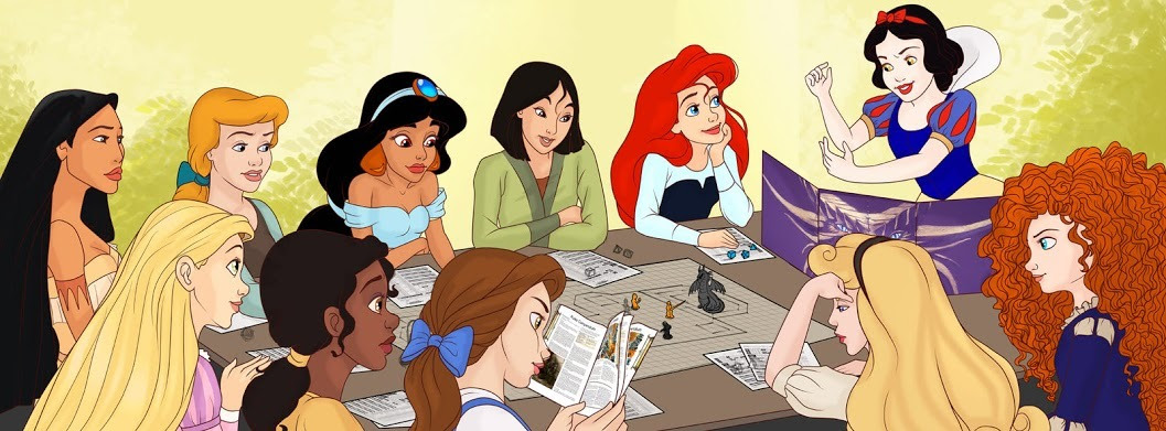 Princesses Playing DnD by madam-marla.