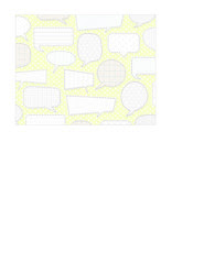 7a margarita conversation bubbles with patterns LARGE SCALE - A2 card size LANDSCAPE or HORIZONTAL