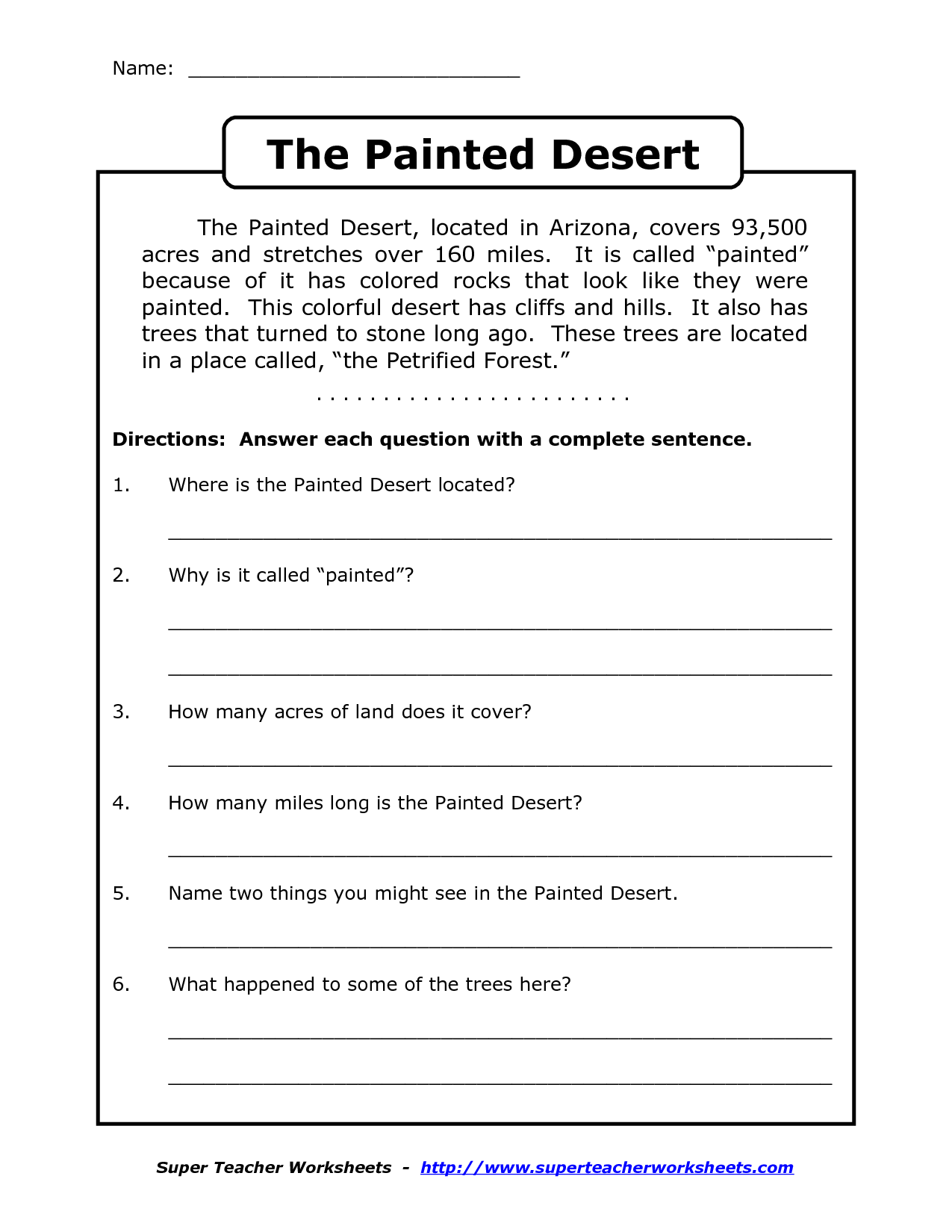 7 Best Of Writing 4th Grade Reading Worksheets
