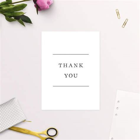 Simple Writing White Wedding Thank You Cards