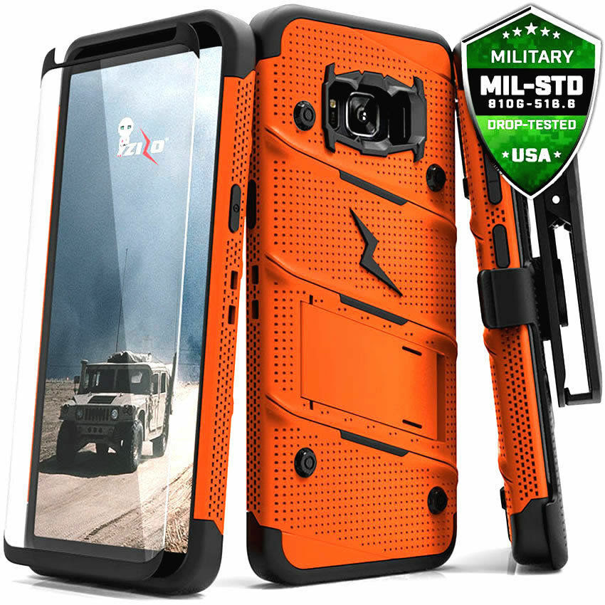 Galaxy Note 8 / S8 / S8 Plus Case, Zizo Bolt w/ Screen Protector and Holster  eBay