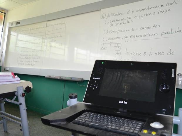 Computadores serão utilizados pelos alunos (Foto: Magda Oliveira/G1)