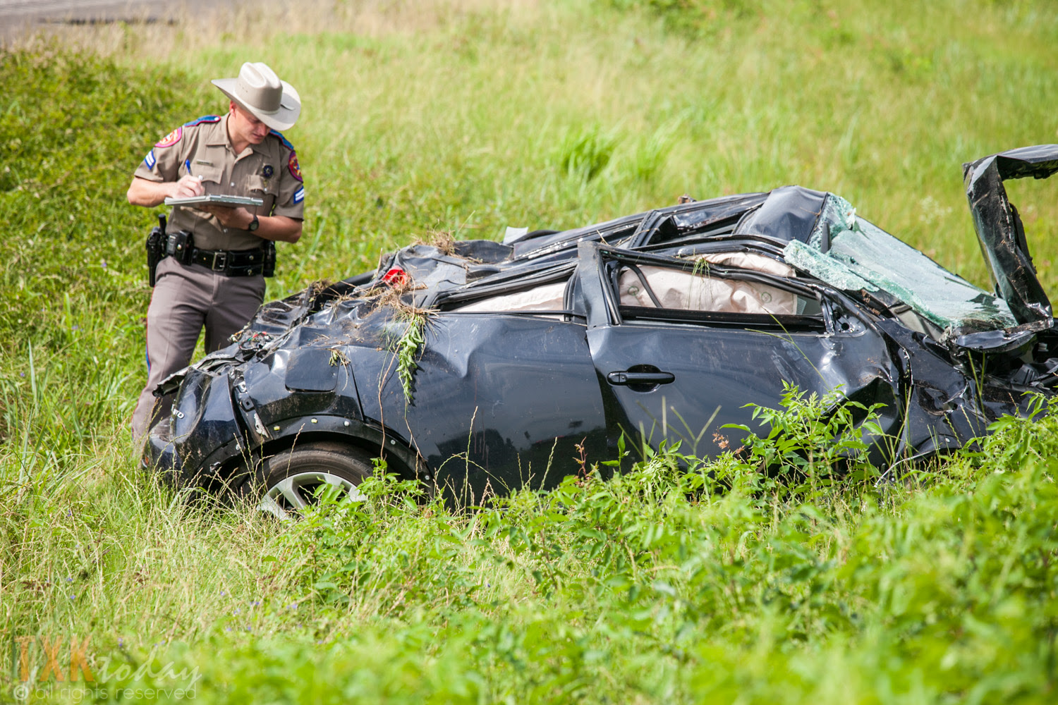 Single Car Rollover Accident Highway 59 | Texarkana Today