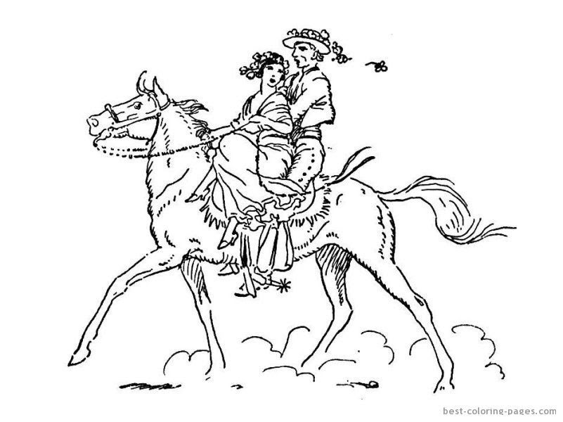 Horse And Rider Coloring Pages - Coloring Home
