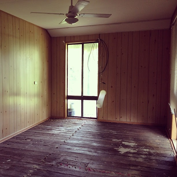 The bedroom in the cottage. #beforephoto