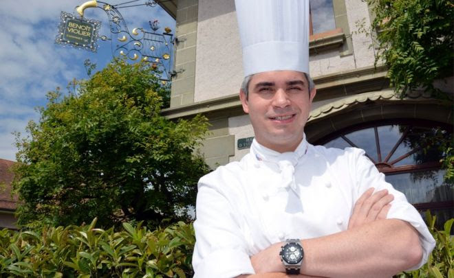 This file photo taken on May 15, 2012 shows Benoit Violier, chef of the Restaurant de l'Hotel de Ville in Crissier near Lausanne, Switzerland