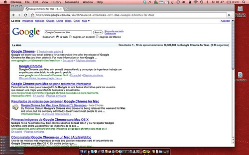 Google Chrome for Mac by [ebarrera].