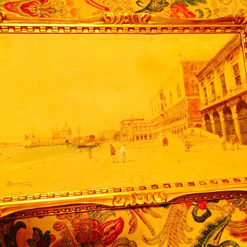 Small antique watercolor of Venice 1