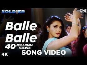 Balle Balle Song Video - Soldier I Bobby Deol & Preity Zinta I Sonu & Jaspinder  