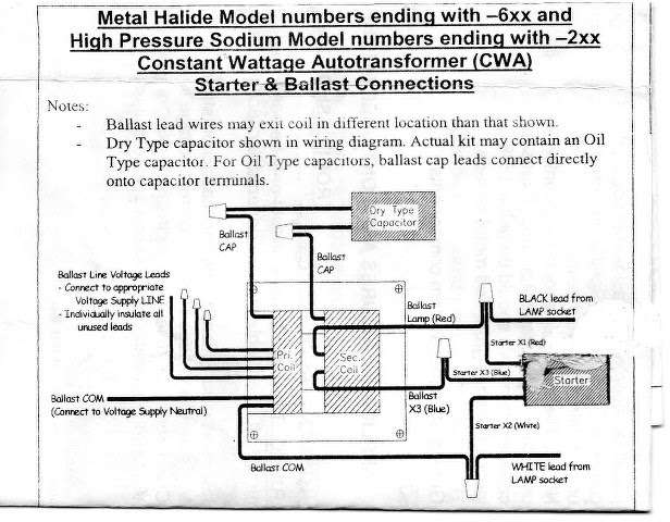 Hid Ballast Wiring Diagrams For Metal Halide And High Manual Guide