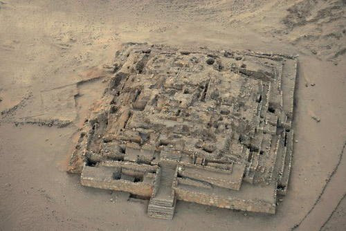 Remains of the Great Pyramid of Caral