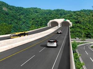 Simulação de implantação de trecho do BRT no Rio de Janeiro (Foto: Divulgação)
