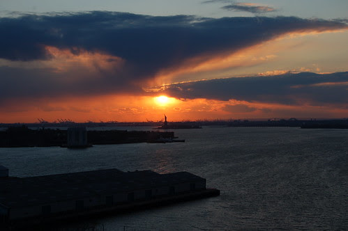 New York Harbor sunset