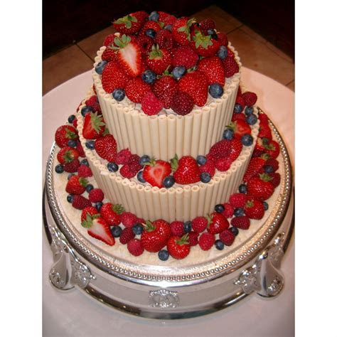 Fruits of Summer Chocolate Wedding Cakes decorated with