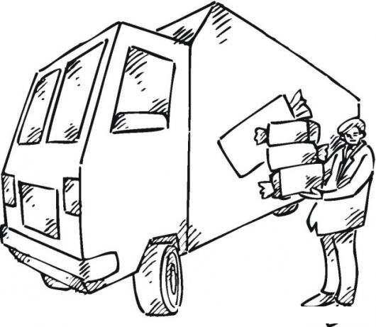 Camion Del Pan Para Pintar Y Colorear Panadero Con Su Camion