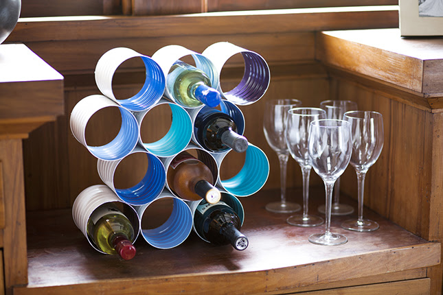 Coffee Can Wine Rack