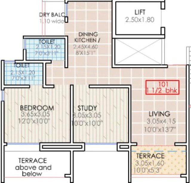 Sai Mystique 1.5 BHK Flat B Building